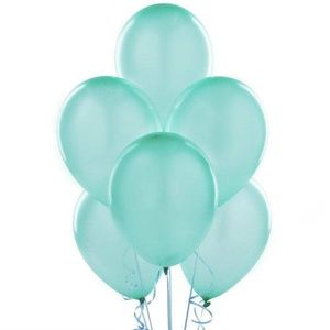 10 Pcs Tiffany Blue Latex Balloons, Extra Thick 🌸